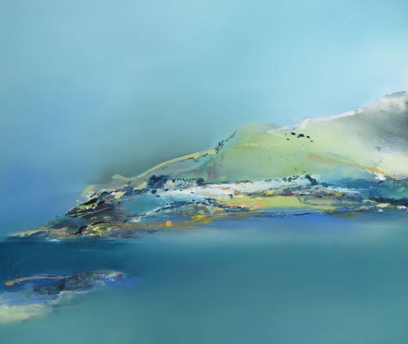 Mothecombe Bay, oil painting 2020 © Elaine Jones