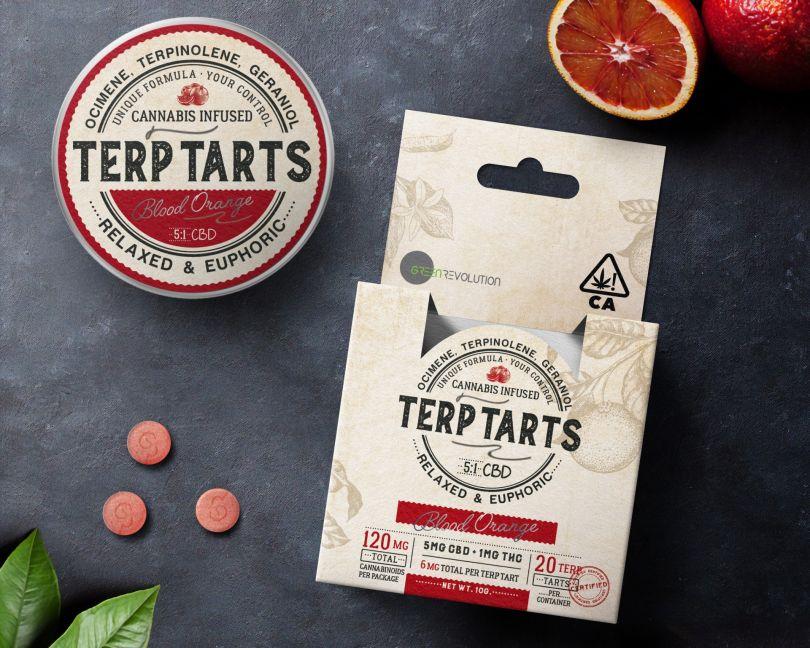 Secret Tarts Cannabis Infused Pills by Garryveda Design Bureau. Winner in the Packaging Design Category, 2019-2020