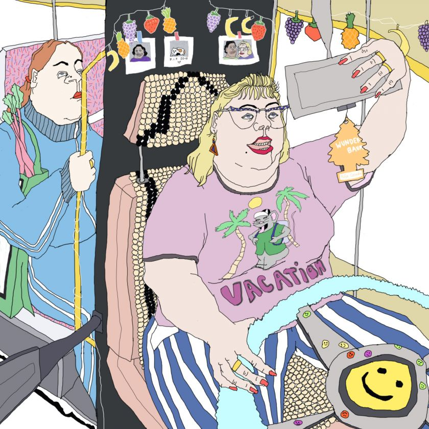 Johanna Ploch's ironic illustrations poke fun at the 'grotesque' details of modern life
