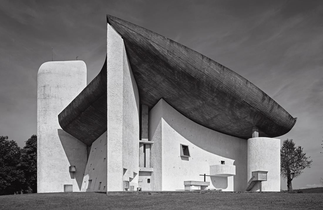 Chapel of Notre-Dame-du-Haut, Ronchamp, France, 1955, Le Corbusier. Picture credit: Roland Halbe