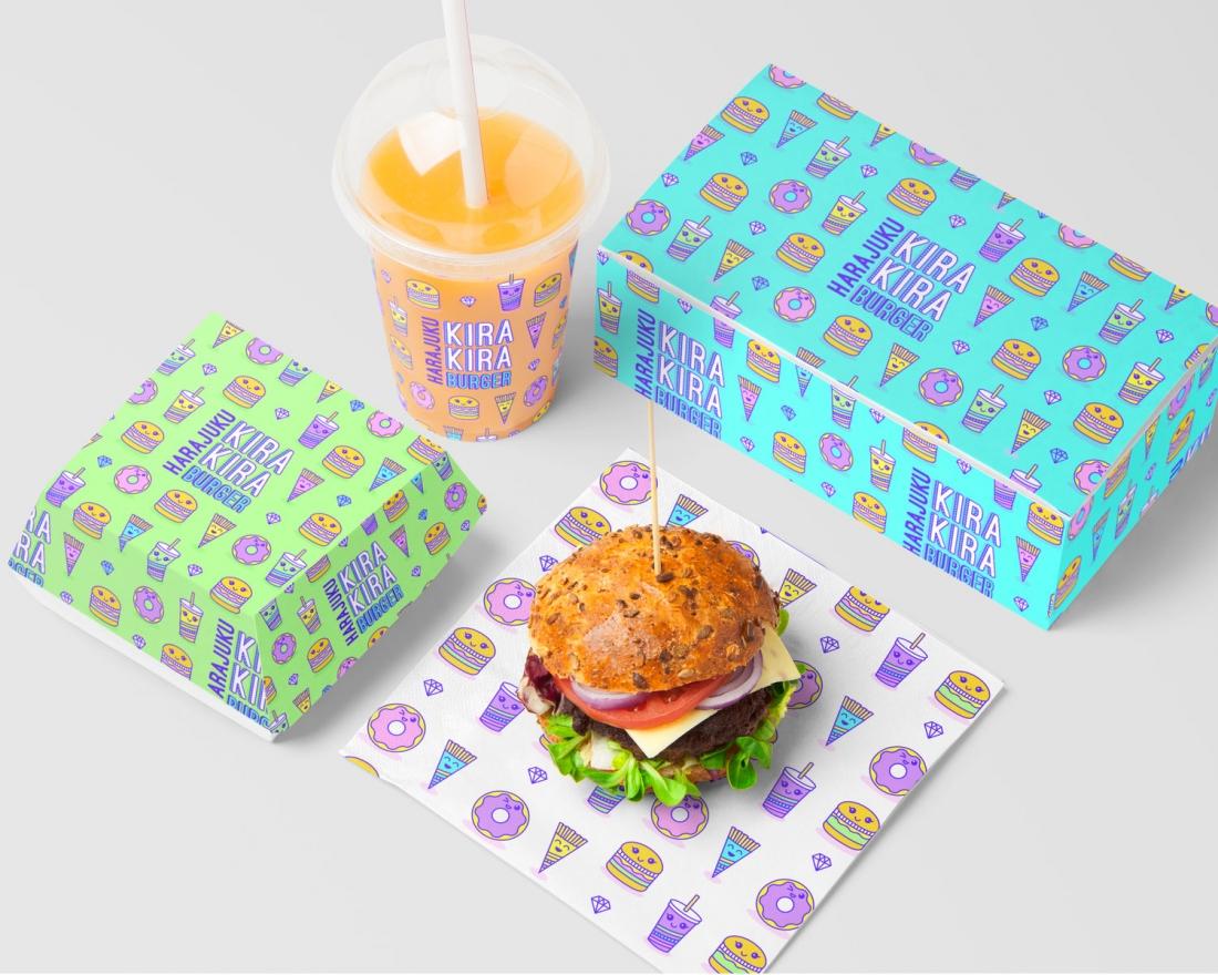 Branding for Harajuku Kira Kira Burger