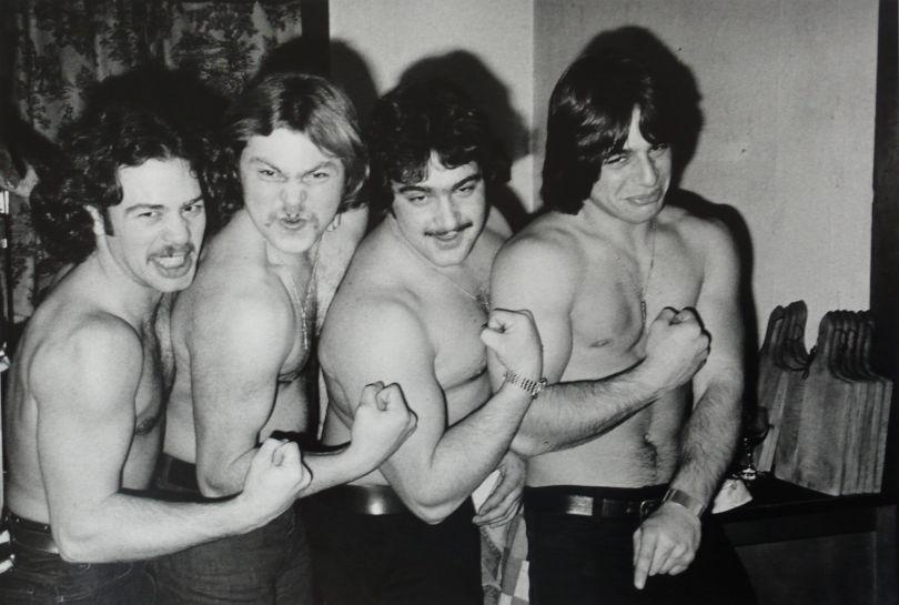 Tony and the Bar Boys, 1975 © Joseph Szabo. Courtesy of Michael Hoppen Gallery