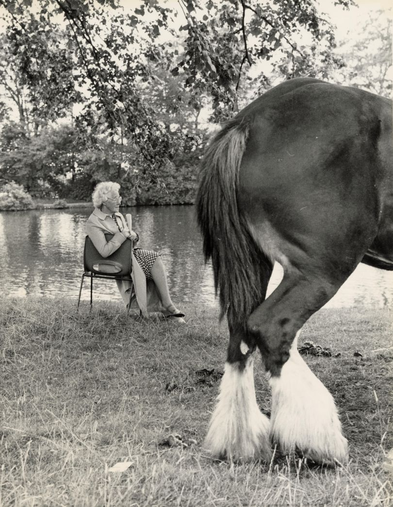 Shirley Baker, Untitled (Woman and Horse), 1968