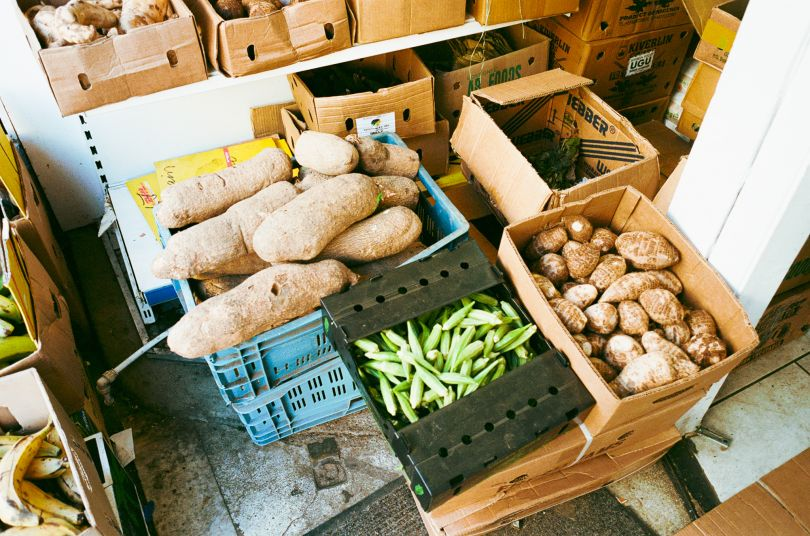 Produce at African Cash & Carry in Woolwich © Jonas Martinez / Museum of London