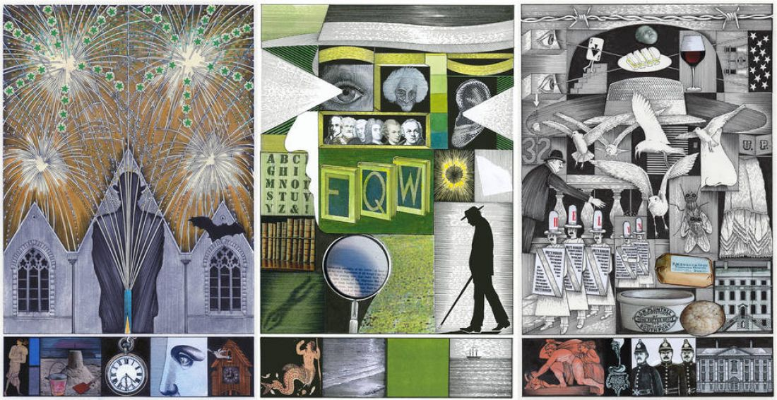 Book Illustration and Moira Gemmill Illustrator of the Year 2018, John Vernon Lord, Ulysses by James Joyce, published by The Folio Society