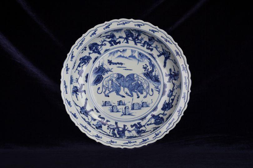Ai Weiwei Blue and White Porcelain Plate (War), 2017 Porcelain, Ai Weiwei Studio