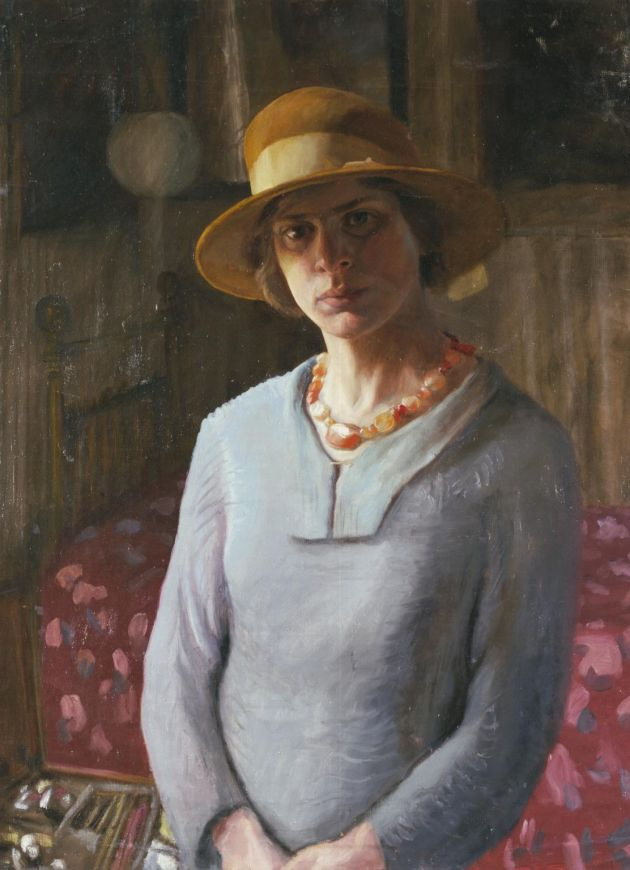 Hilda Carline, Self-Portrait, 1923, Oil on canvas, 74.9 x 57.8 © Estate Hilda Carline & DACS, London. Courtesy Tate