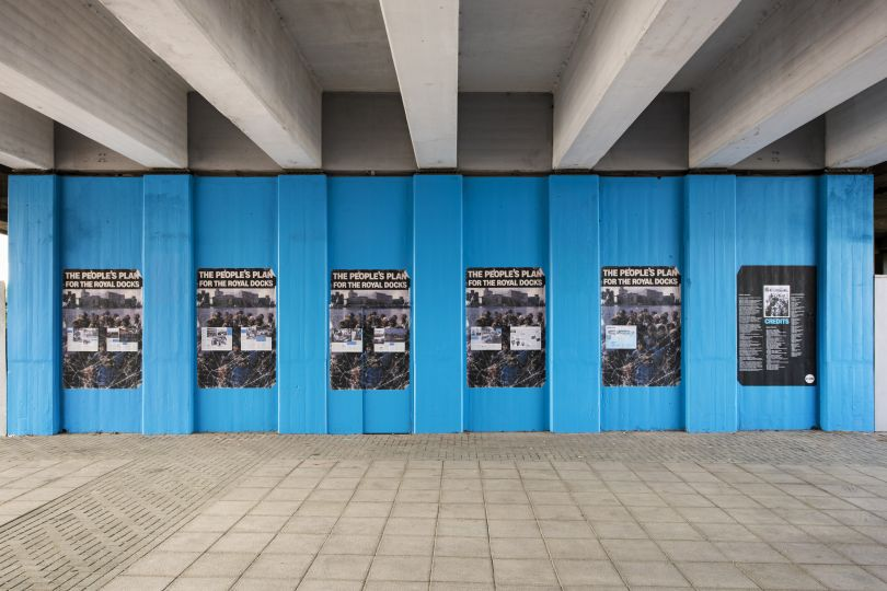 The People's Plan, 2019, Jessie Brennan (Part of the year-long series Making Space) Commissioned by the Royal Docks Team, a joint initiative by the Mayor of London and the Mayor of Newham. Produced and curated by UP Projects.  Photo by Thierry Bal