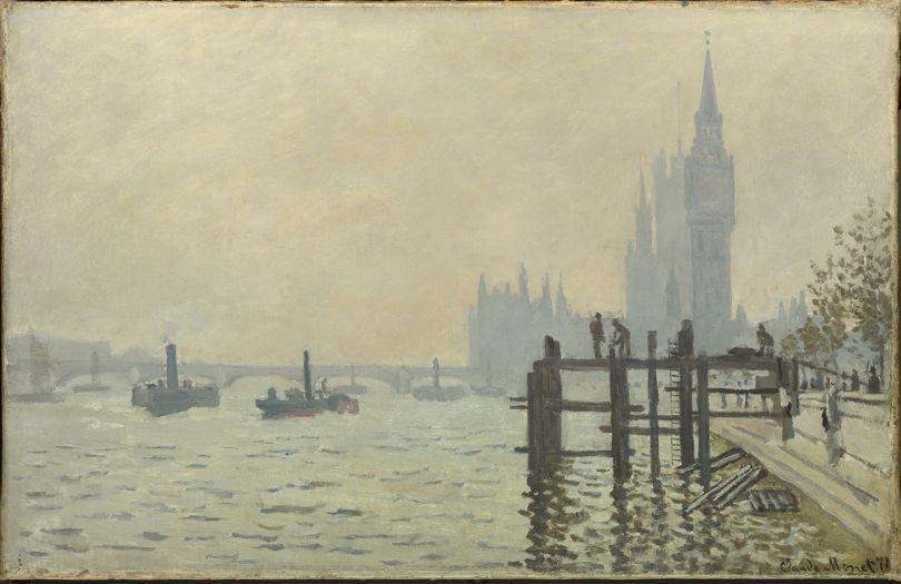 Claude Monet The Thames below Westminster (La Tamise et le Parlement), about 1871 Oil on canvas 47 x 73 cm © The National Gallery, London