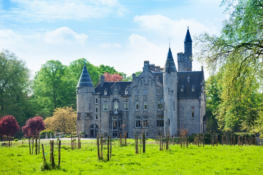 Beautiful view of Bornem Castle near Antwerp, Adobe Stock