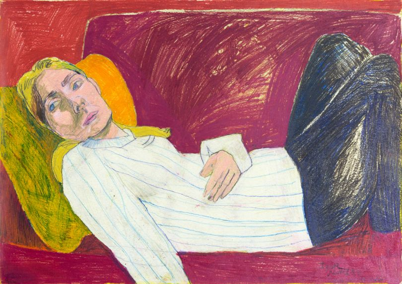 Igor Moritz, Red Couch, 2020 - Delphian Gallery