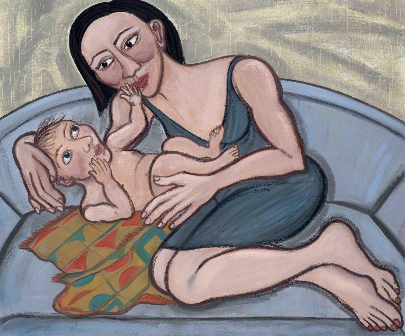 Eileen Cooper, 'Believe', 2019, oil on canvas, 30 × 36 in (76 × 91.5 cm)