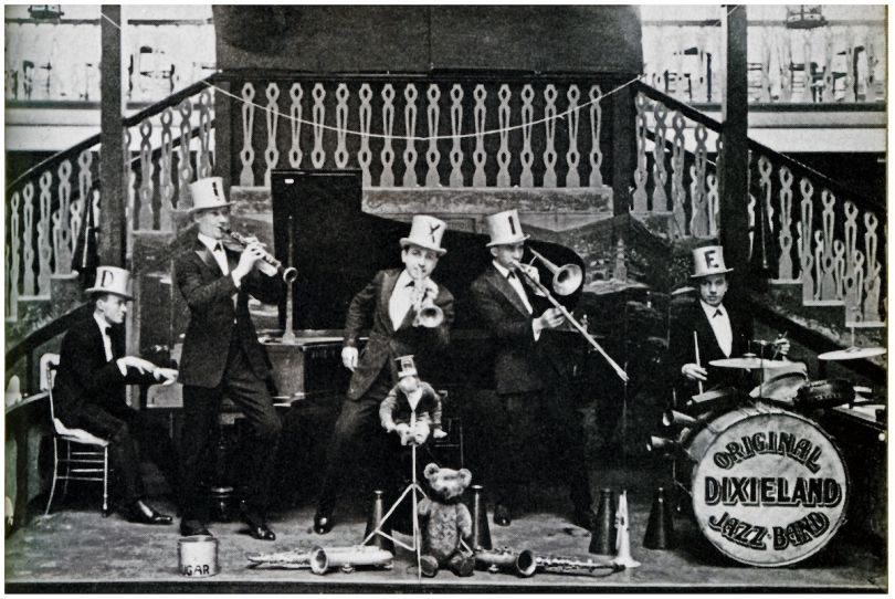The Original Dixieland Jazz Band at The Palais de Dance, Hammersmith 1919 Photograph, Max Jones Archive © Max Jones Archive, maxjonesarchive@aol.com