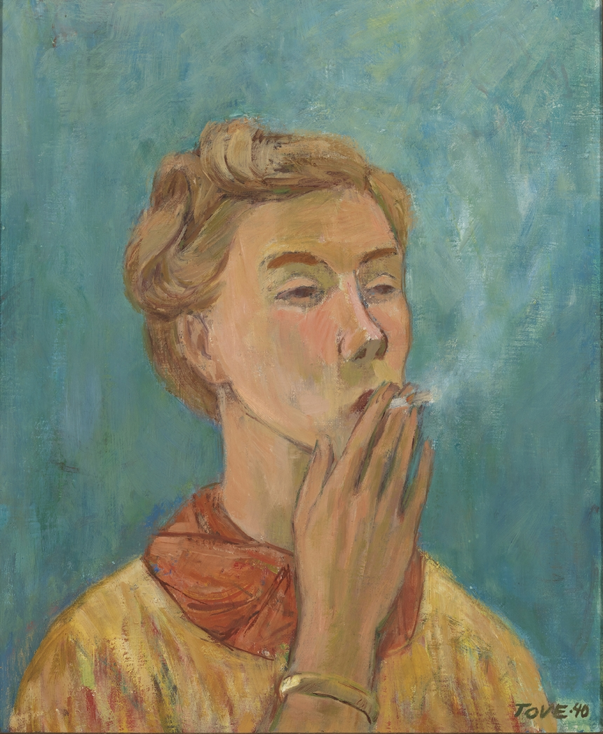 Tove Jansson, Smoking Girl (Self-Portrait), 1940, Private Collection. Photo: Finnish National Gallery / Yehia Eweis. ©Moomin Characters