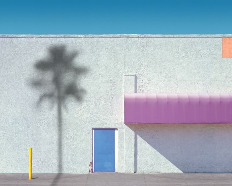 Pink Awning with Orange, 2018 © George Byrne
