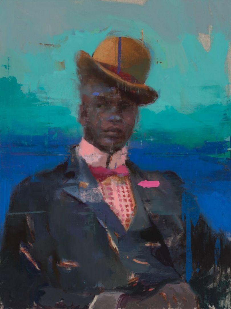 Distant Relative #4, Oil on Canvas © Jérôme Lagarrigue
