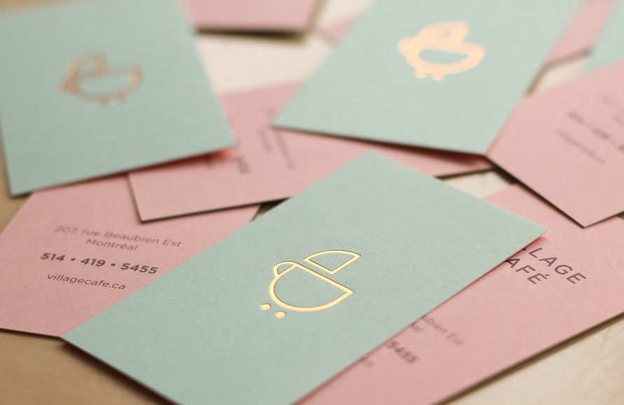 Cute and playful branding for a new baby-friendly cafe in Montreal ...