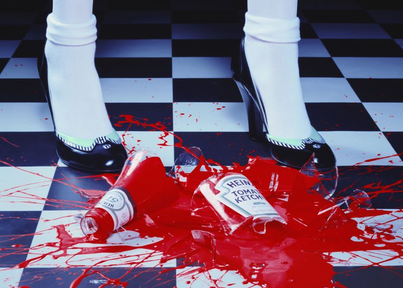 A Drop of Red #2, 2001 © Miles Aldridge courtesy Huxley-Parlour Gallery