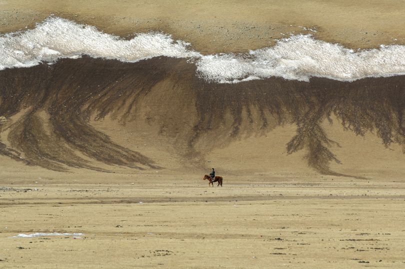 Spring Canvas Brushed By Nature, Mongolia, 2007 © Marc Progin. Courtesy of Blue Lotus Gallery