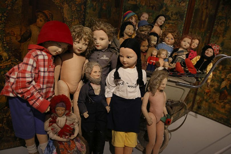 Magnificent Obsessions: The Artist as Collector, Peter Blake's Dolls Collection. Photograph by Peter McDiarmid