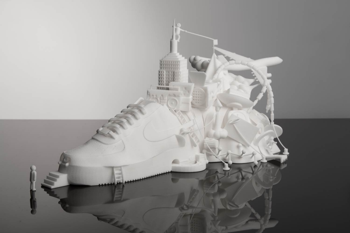 3d printed nike art collaboration creative boom for 3d sculpture artists