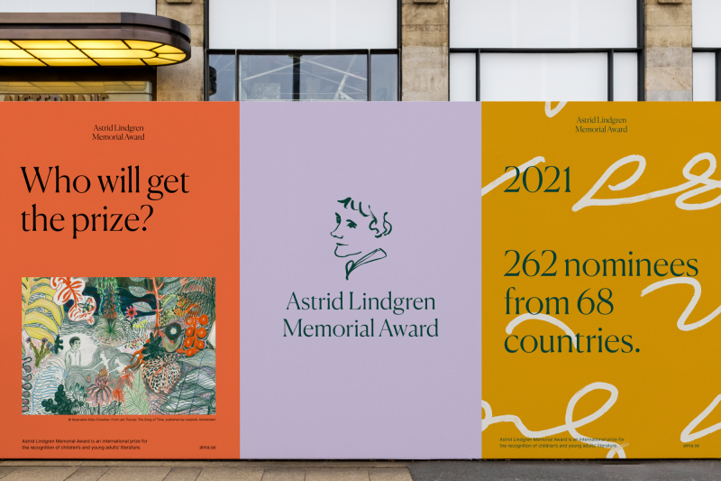 Happy F&B's new identity for a literary award is inspired by Astrid Lindgren and her shorthand