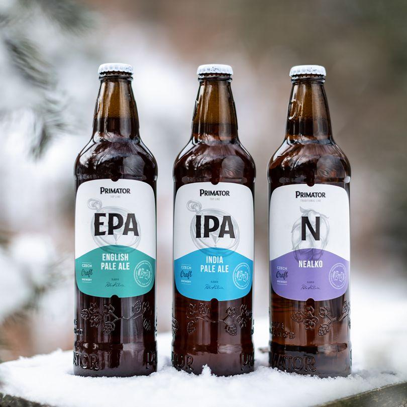 Primator Brewery Label Design by Radoslav Dostal is Winner in Packaging Design Category, 2018 - 2019