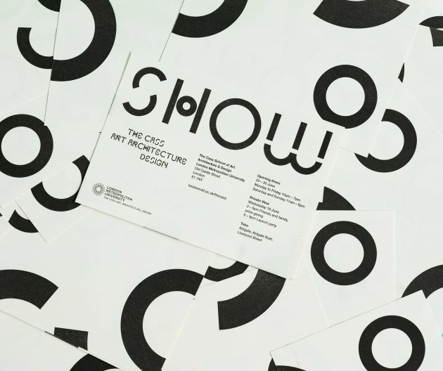 Cass degree show visual identity