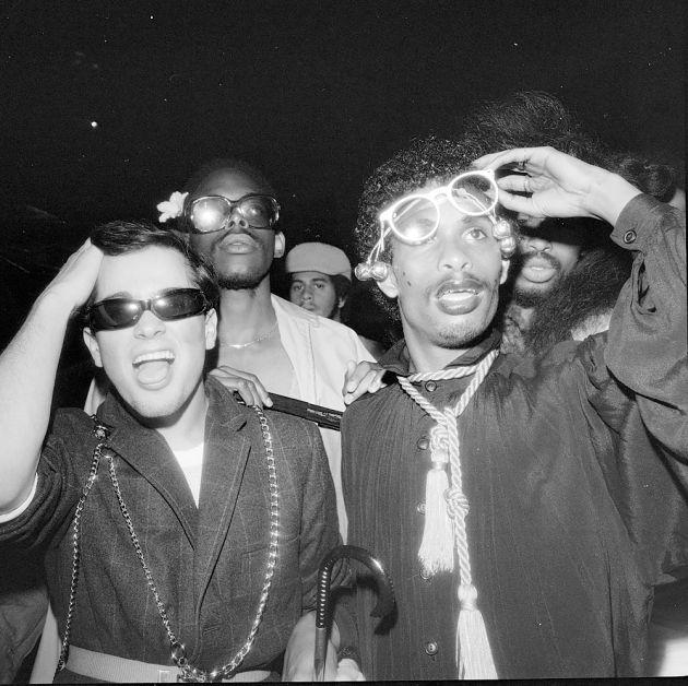 Eye Glasses on Opening Night, Xenon NY, June 1978 ©Meryl Meisler