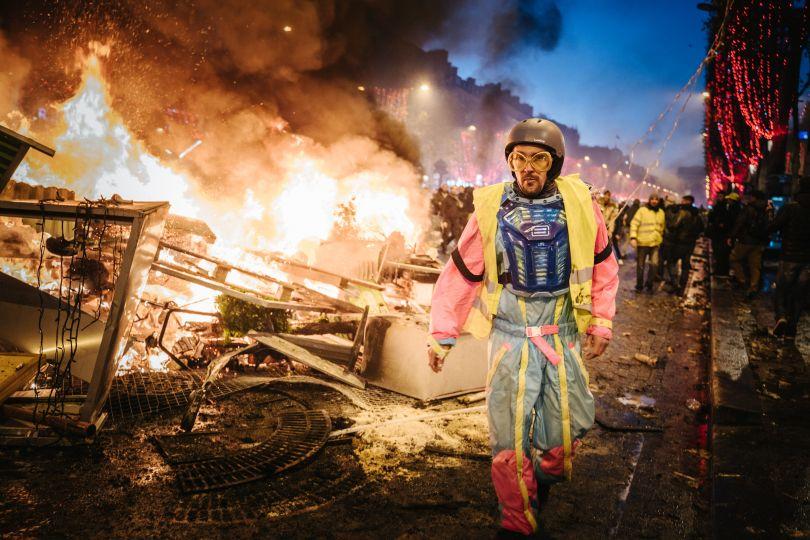 Yellow Vest Protestor by Arnaud Guillard. © Arnaud Guillard, France, Shortlist, Open, Street Photography (Open competition), 2019 Sony World Photography Awards