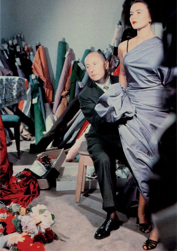 Christian Dior with model Sylvie, circa 1948. Courtesy of Christian Dior