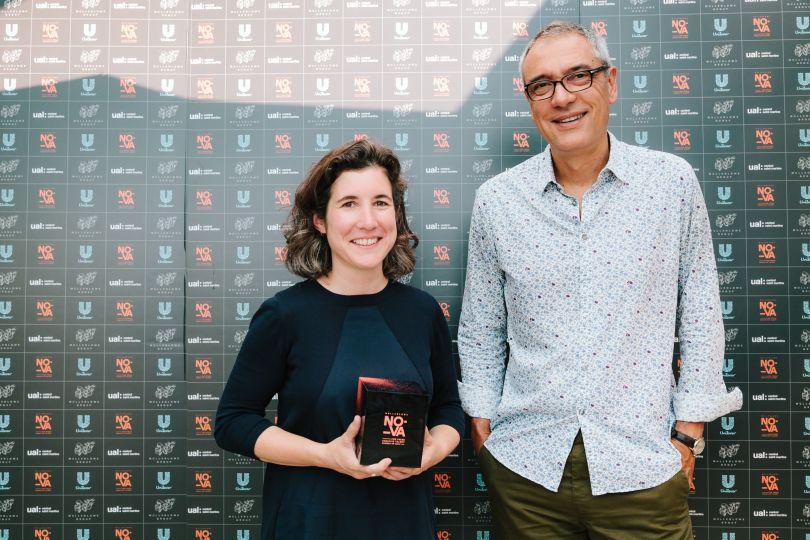 Receiving a MullenLowe NOVA Award in 2017