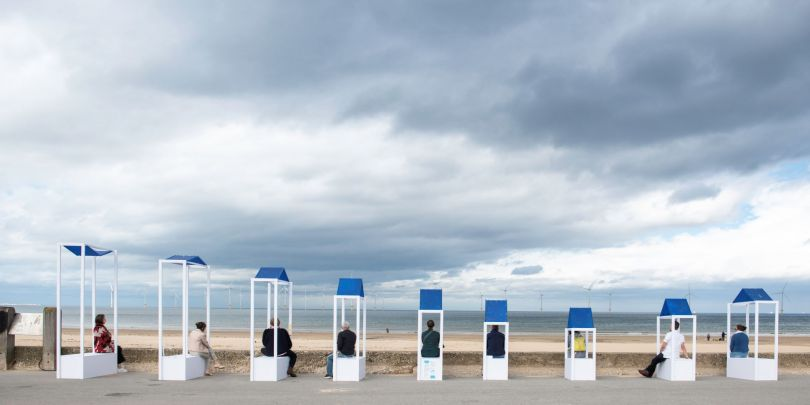 Sit, Stop by Sally Hogarth on Redcar seafront. Image credit: Tracy Kidd