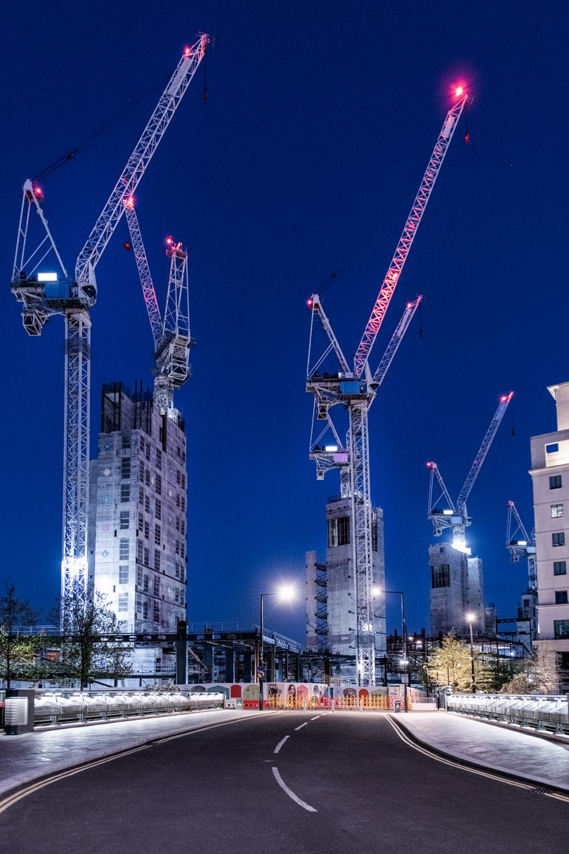 Cranes, King's Cross, 20 April © Jan Enkelmann