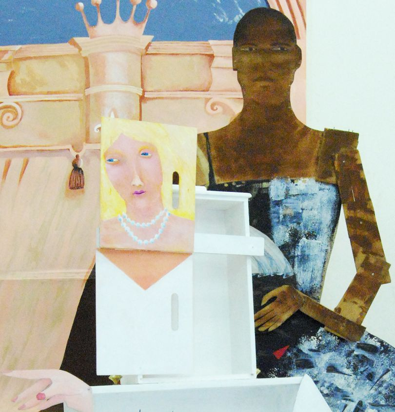 Lubaina Himid, A Fashionable Marriage, 1986. Courtesy the artist and Hollybush Gardens, Photo M. Birchall & Teo Lashley Burnley, shown at Nottingham Contemporary