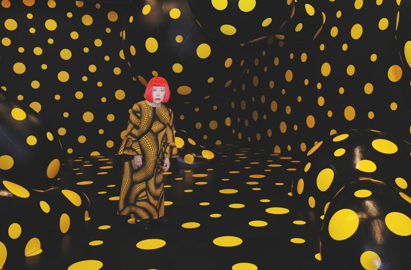 Yayoi Kusama with Dots Obsession Night, Tokyo, 2008. Picture credit: artwork © Yayoi Kusama (pages 6-7)