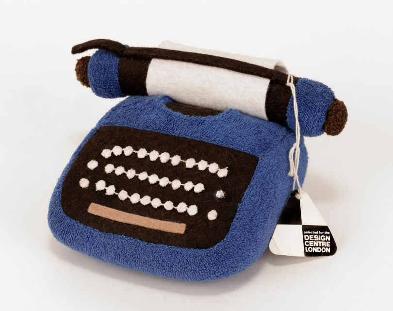 Early Marshmallow soft typewriter, hand-made, rubber foam and jersey towelling, 1970 © Sylvia Libedinsky