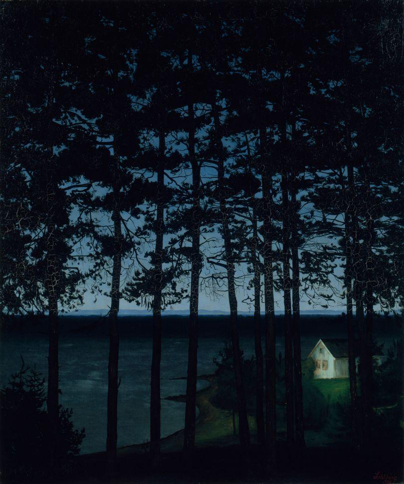 Harald Sohlberg, Fisherman's Cottage, 1906, Art Institute of Chicago, Gift of Edward Byron Smith