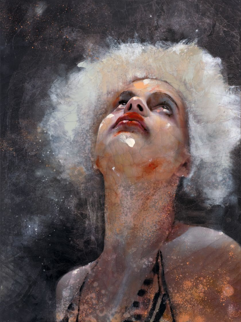 Lita Cabellut's paintings show a tremendous impulse of violence mixed with beauty and poetry