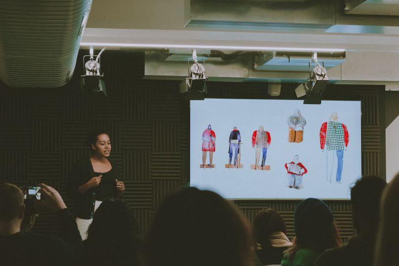 Danielle Rhoda at Fuse event, Speak Up!