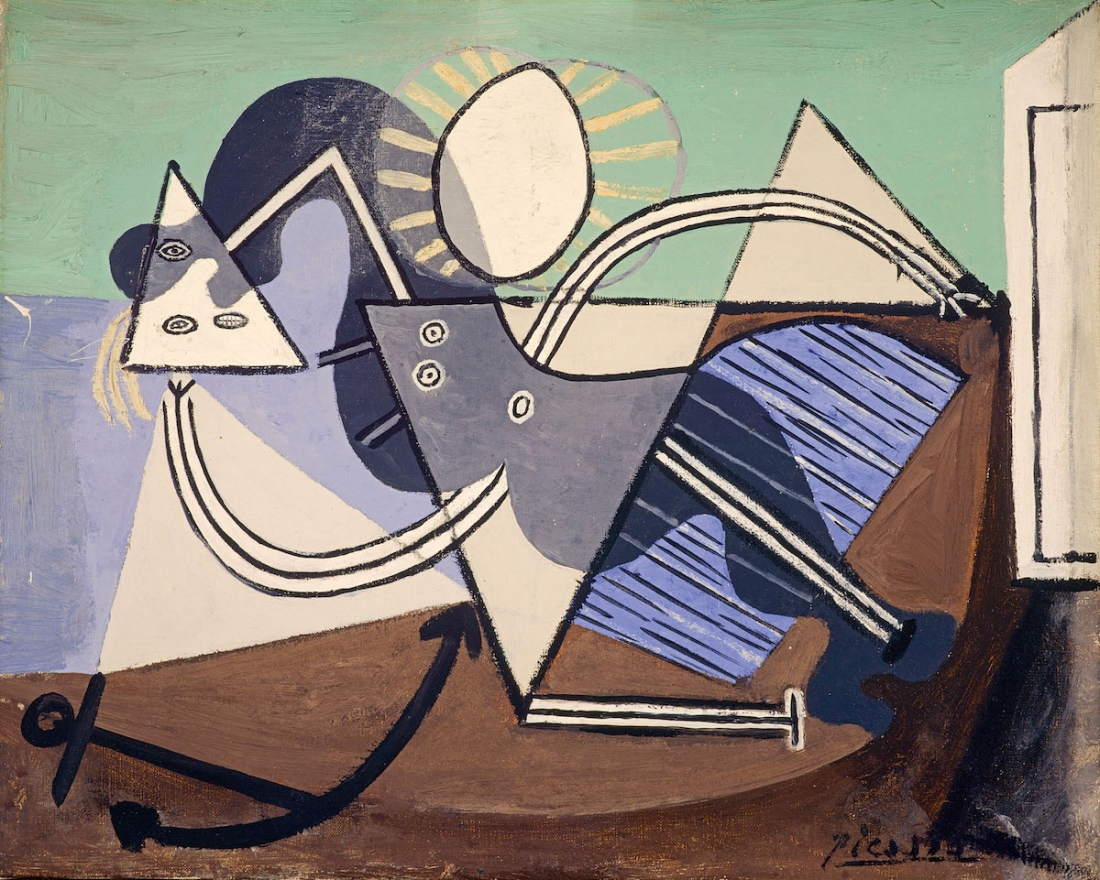 Pablo Picasso Woman on the Beach (Nu sur la plage) 1932 Oil paint on canvas 330 x 400 mm The Penrose Collection© Succession Picasso/ DACS London, 2017