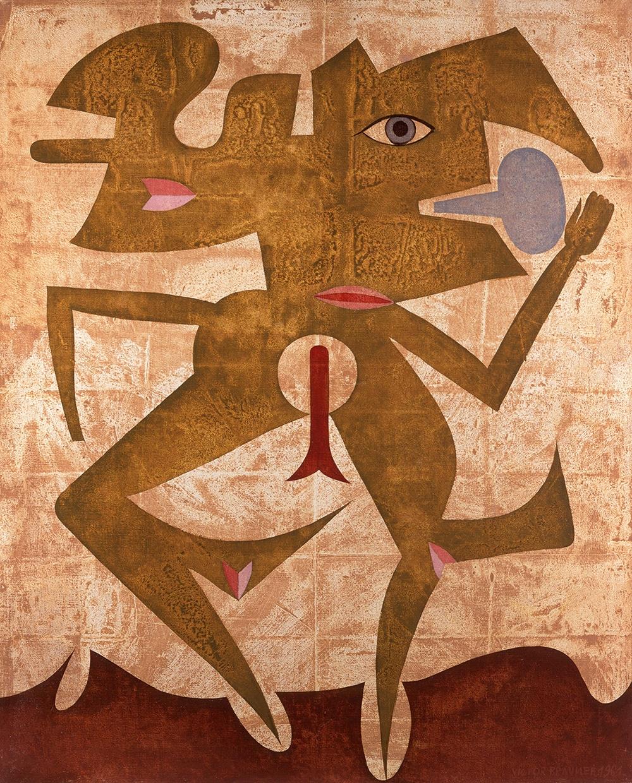 Victor Brauner, Esprit minéral, 1961, Oil on canvas, 100 x 81 cm, Courtesy Olivier Malingue Gallery