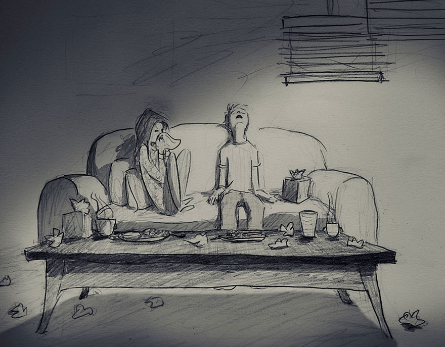 Drawings 365: Husband spends a whole year illustrating every single day spent with his wife