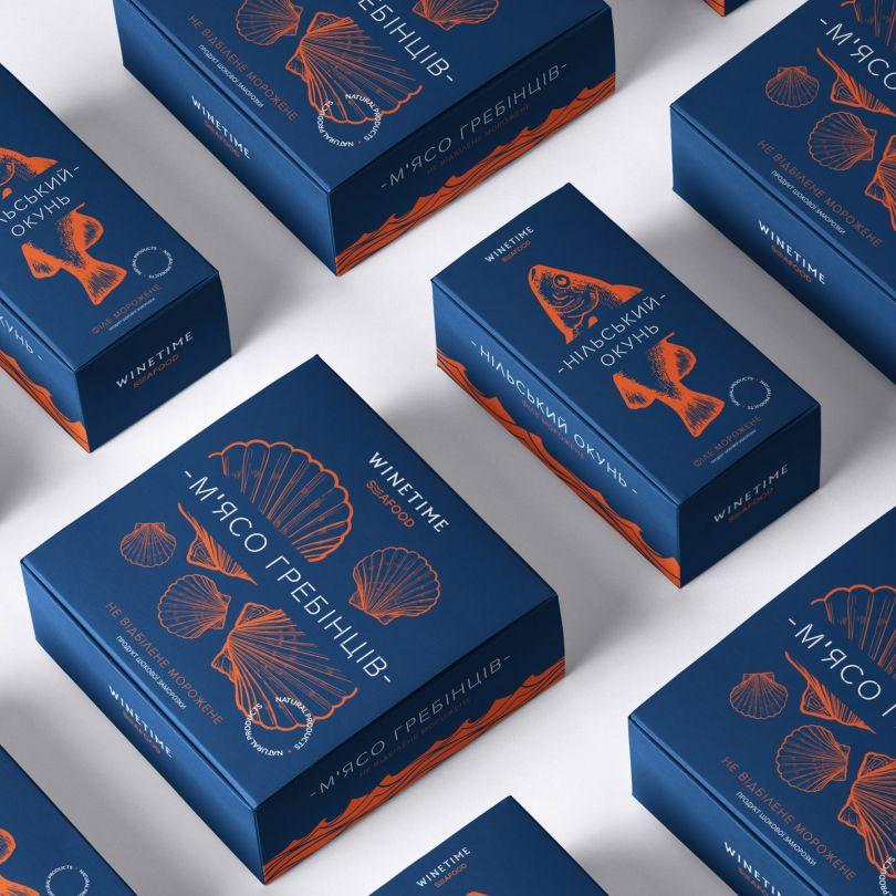 Winetime Seafood Packaging by Olga Takhtarova is Winner in Packaging Design Category, 2019 - 2020