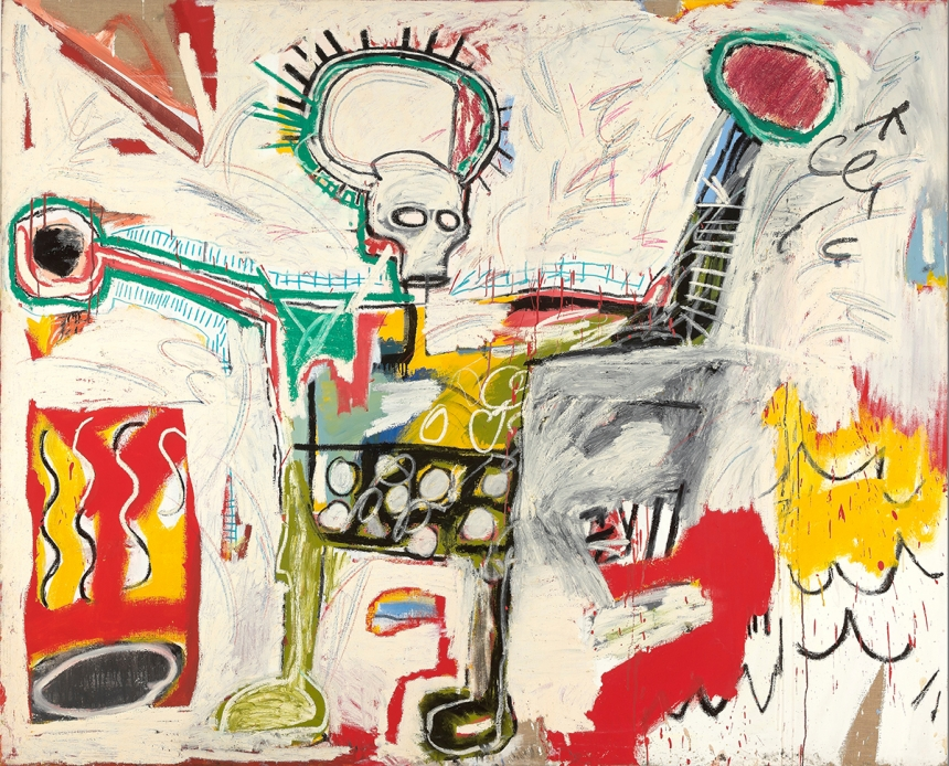 Jean-Michel Basquiat Untitled, 1982 Courtesy Museum Boijmans Van Beuningen, Rotterdam. © The Estate of Jean-Michel Basquiat. Licensed by Artestar, New York. Photo: Studio Tromp, Rotterdam