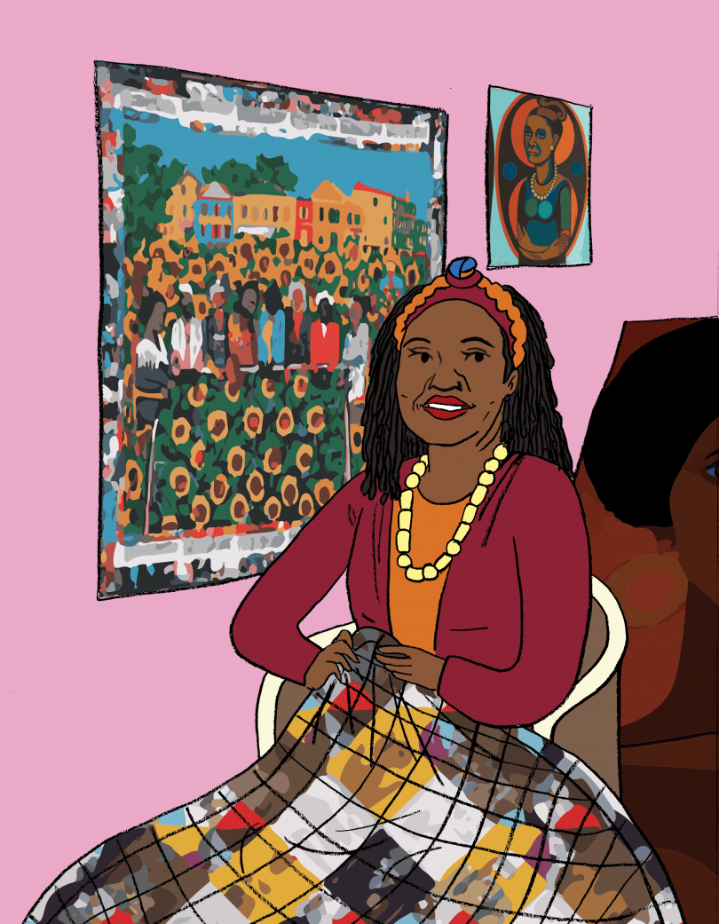 Faith Ringgold, from the book A Black Woman Did That