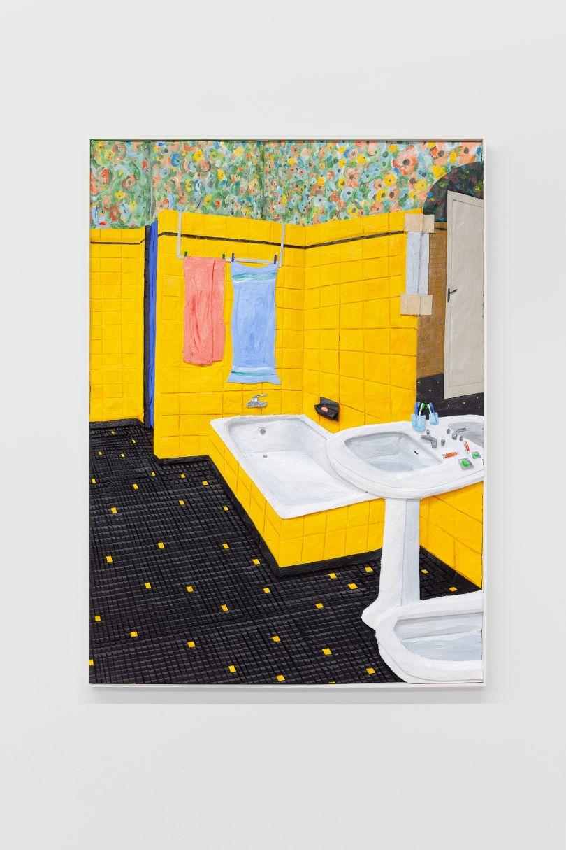 Bathroom in Oloron-Sainte-Marie (to Jean-Baptiste and Simone), 2020 © Victor Delestre