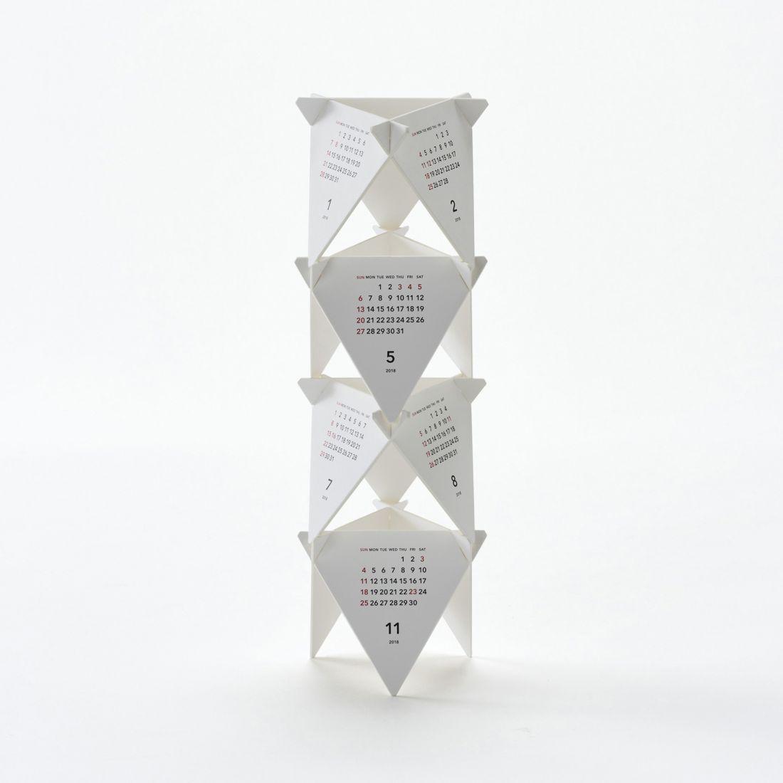 Tri-leg calendar by Katsumi Tamura