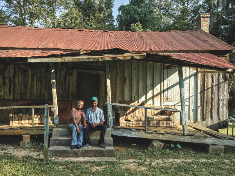 Eliza Bonner and Her Brother Cornell Jenkins at Momma's Old House, Snow Hill © Andrew Moore, from Blue Alabama