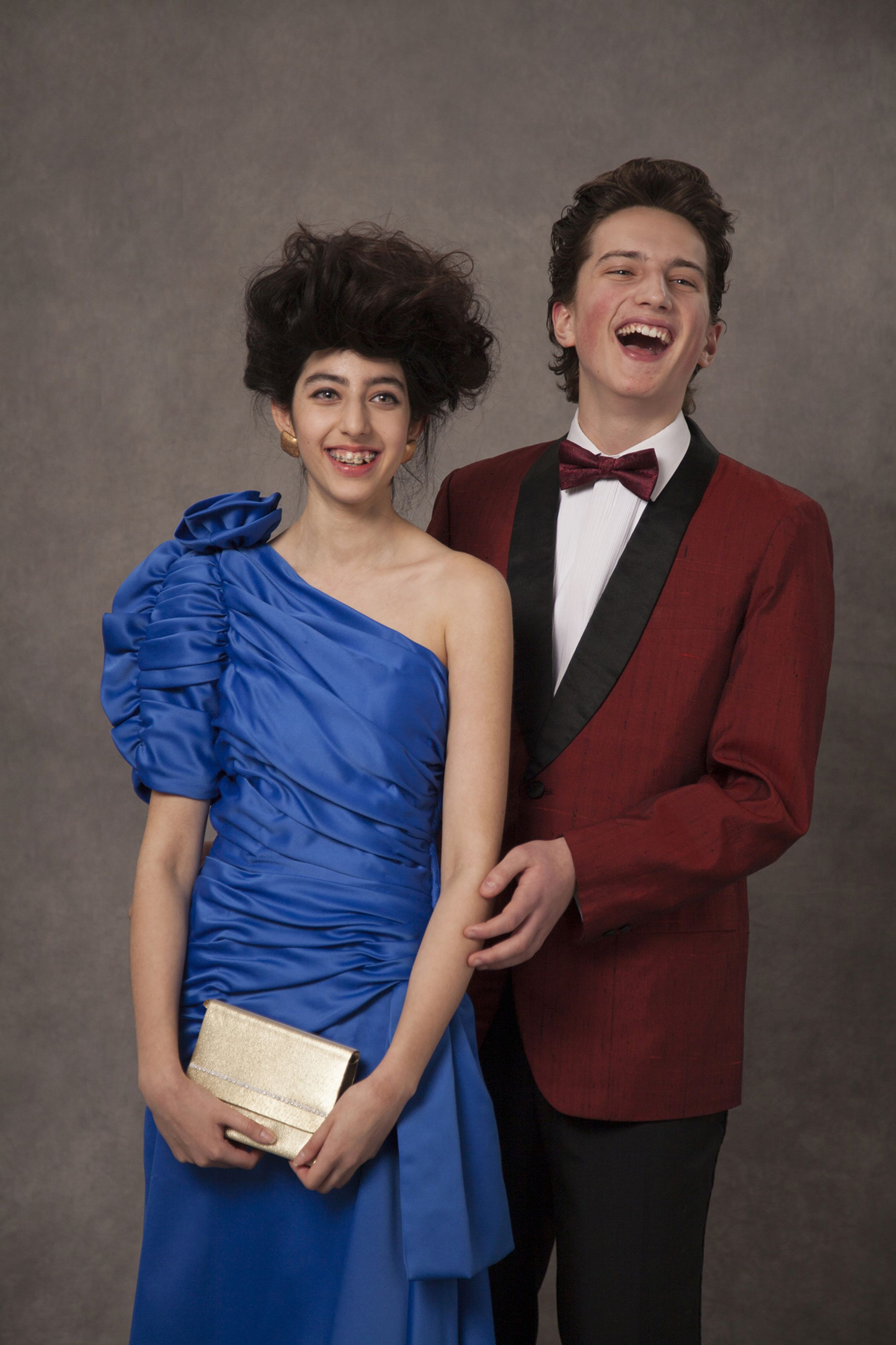 A classic, 80s prom photo.